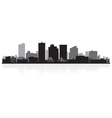 Phoenix USA city skyline silhouette vector image vector image