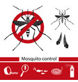 mosquito control tools icons set vector image