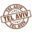 tel aviv stamp vector image