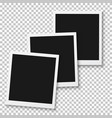 instant photo blank vintage photo frame mockup vector image vector image