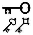 medieval key symbols vector image