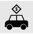 passenger car icon vector image