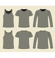 Singlet T-shirt and Long-sleeved T-shirt vector image vector image
