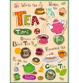 Tea design elements vector image