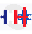 France and Faroe Islands Flags vector image