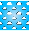 Clouds in blue sky Nature seamless summer vector image vector image