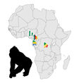 Africa Gorilla range vector image