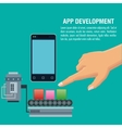 App development technology design vector image