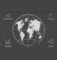 business wolrd map blackboard sketch vector image