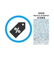 Discount Tag Rounded Symbol With 1000 Icons vector image