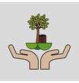 ecological concept tree design vector image