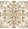 Indian mehendi boho seamless background vector image