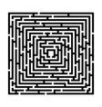 Rectangle maze vector image