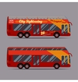 Red double decker bus vector image