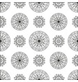 seamless pattern with circles and spirals vector image