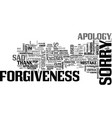 Sorry word cloud concept vector image