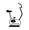 Spinning or stationary bike fitness icon image vector image