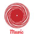 Stylized monochrome music vinyl record logo vector image