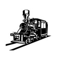 vintage steam train locomotive vector image