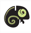 Abstract decorative chameleon vector image