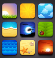 background for the app icons-summer part vector image