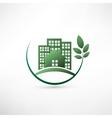 Green environmentally friendly real estate vector image