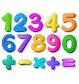 Number vector image