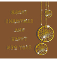 Golden snowflakes for Merry Christmas and Happy Ne vector image