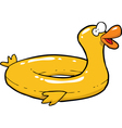 yellow inflatable duck vector image