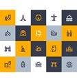 Landmarks icons Flat style vector image vector image