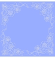 Simple floral frame in white vector image vector image