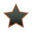 Blackboard in the shape of star vector image