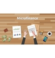 microfinance person work in his table on some vector image