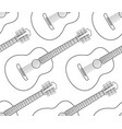 acoustic guitar contour pattern vector image