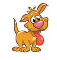 cute puppy cartoon vector image