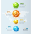 Infographic Timeline and Ball or Globe vector image