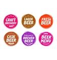 set colorful labels for beer pub vector image