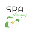 Spa therapy label vector image