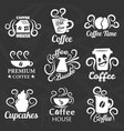 coffeehouse of coffee shop icons templates vector image