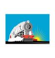 vintage steam train locomotive vector image vector image