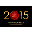 2015 Best Year 100 Satisfaction Guaranteed - vector image vector image