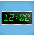 Electronic clock vector image