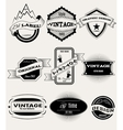 set of retro banners for design vector image