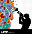 jazz musician background vector image vector image