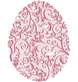 lacy easter egg vector image vector image