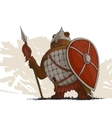 Bear warrior with a spear vector image