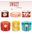 candy gift boxes vector image