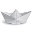 small paper boat vector image