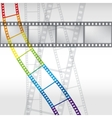 Abstract background with a film strip Eps 10 vector image