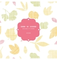 Abstract textile texture fall leaves frame vector image